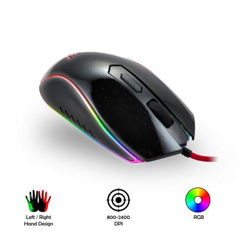 Mouse Gaming 2400 Dpi Rgb Professionale Ergonomico
