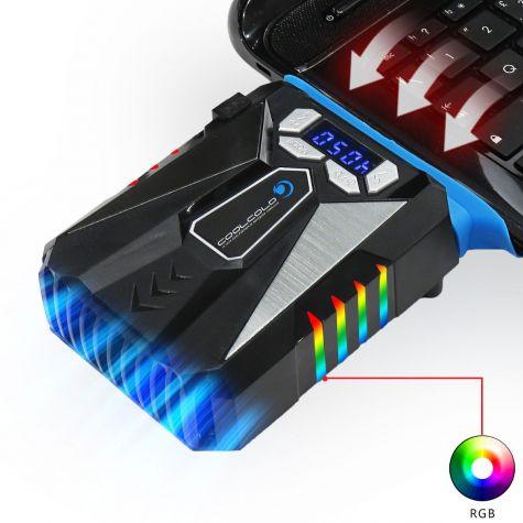 Dispositivo Raffreddante Sottovuoto Rapido Notebook|Rgb Led|Suction Fan Auto Gaming Lcd|