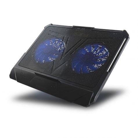 Base Di Raffreddamento Comfort 360° 2 Ventole Fan Blu | Ice II Comfort 360° 2 Fan