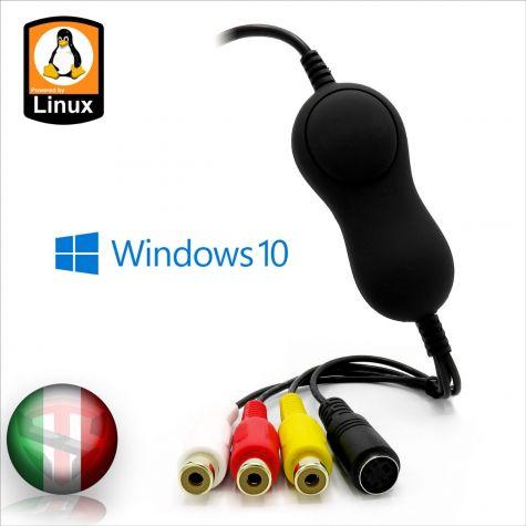 Convertitore Video da Analogico a Digitale Easy Cap New Version Linux + Mac + Pc