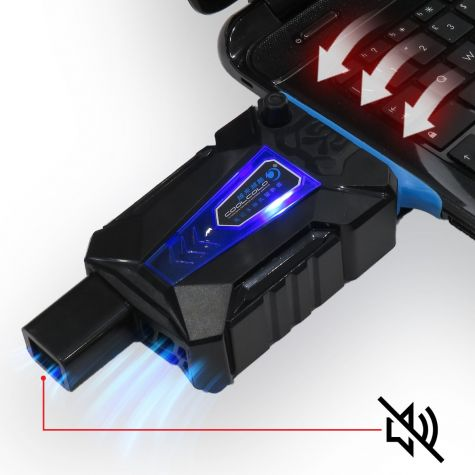 Dispositivo Raffreddante Sottovuoto Silenzioso Notebook|Led Blu|Suction Fan Gaming Silence