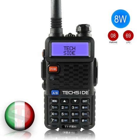 Radio TECHSIDE TI-F8+ | Tri-Power | COMPATIBLE MIDLAND 8W