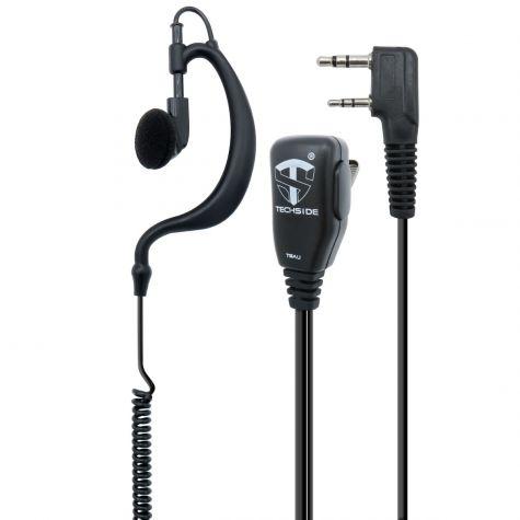 Microfono Auricolare Avvolgente a 2 pin compatibile TI-F8+ Kenwood Baofeng